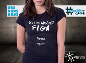 maglietta con scritta Diversamente Figa, colore nero, donna