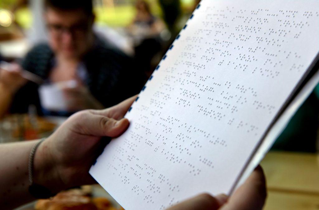 menu in braille