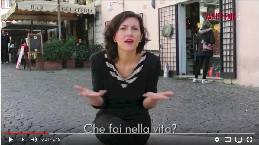 breve video corso base LIS Vanity Fair