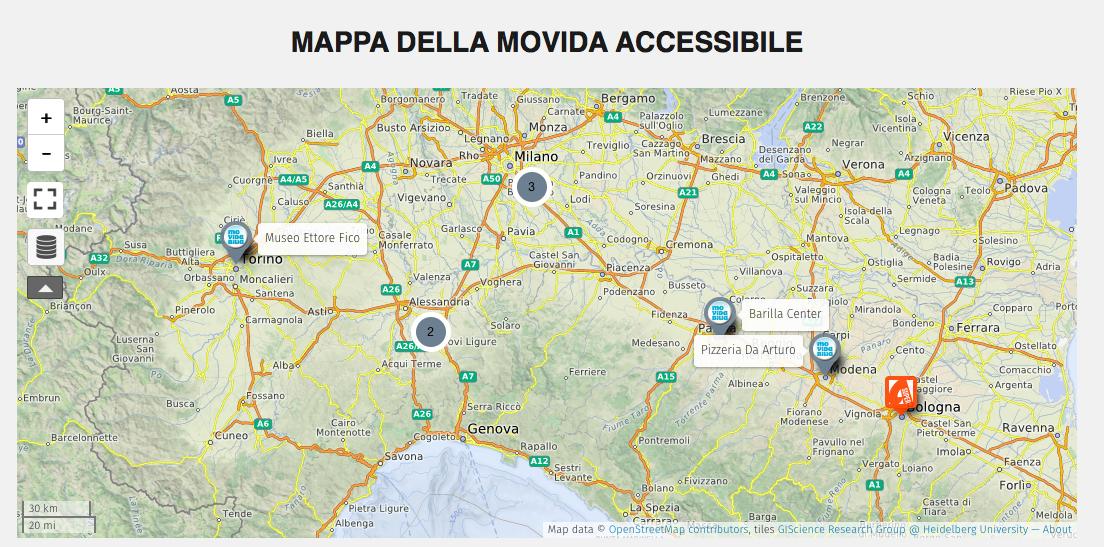 mappa dal basso di #accessibilityisccool, creata dai follower di movidabilia per mappare i luoghi di divertimento accessibili grazie ad un selfie. PARTECIPA ANCHE TU