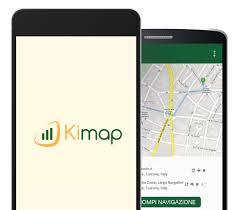 KiMap, schermata App