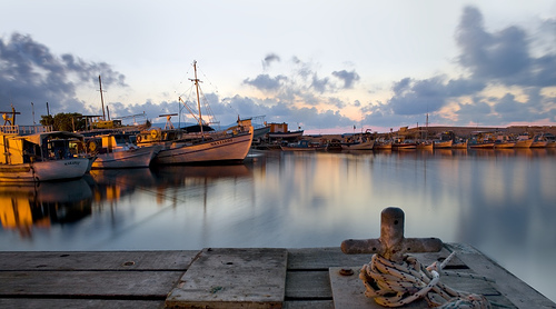 Polis Chrysochous_banchina al porto al tramonto