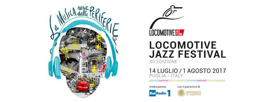 Grafica orizzontale della locandina di Locomotive Jazz Festival