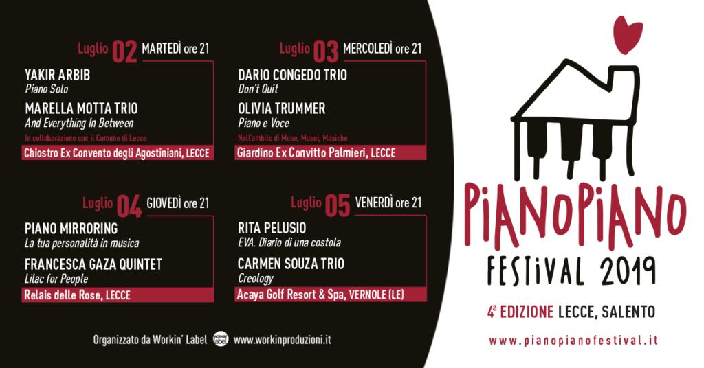 Locandina eventi Piano Piano festival 2019