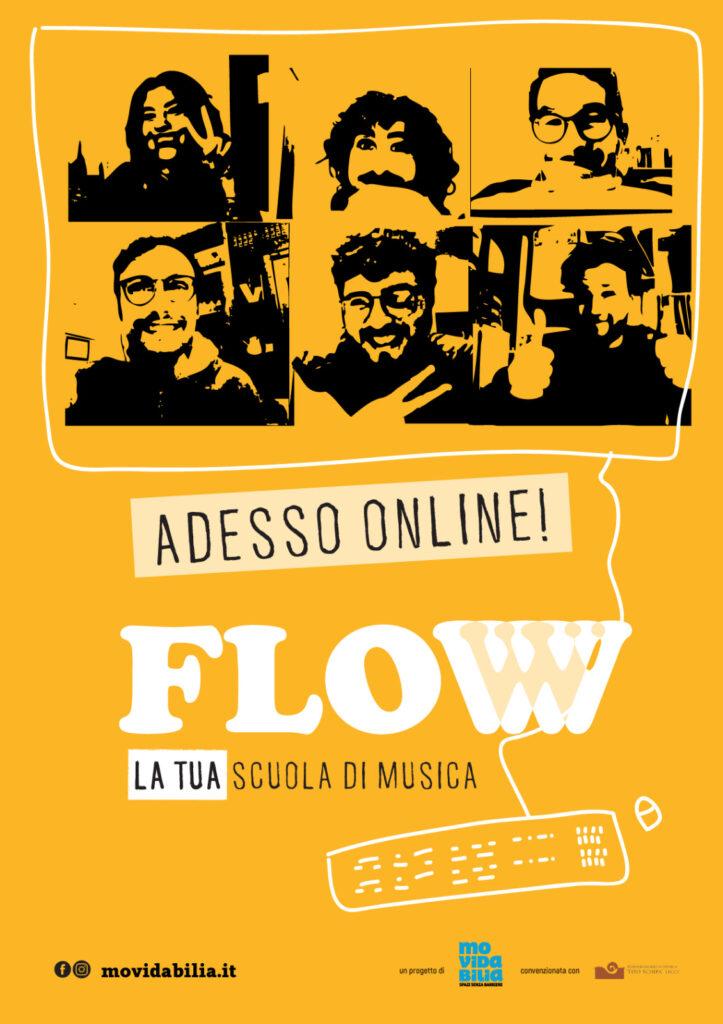 locandina corsi online scuola di musica flow