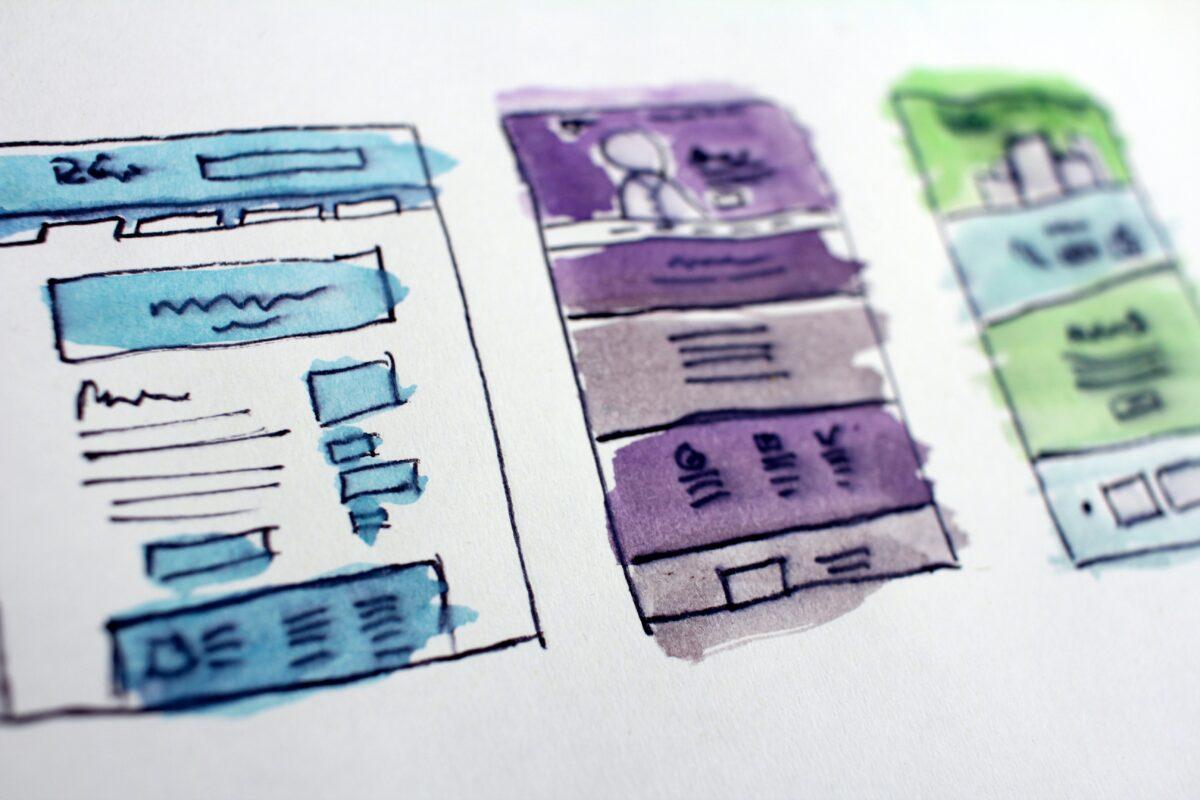 esempi disegni grafiche siti web colorate - easy to read